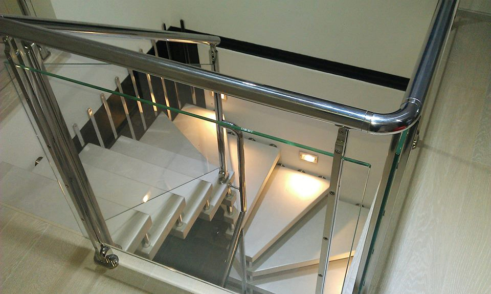 Concrete cantilevered stair coating